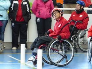 Un dels nostres esportistes realitzant en èxit el recorregut